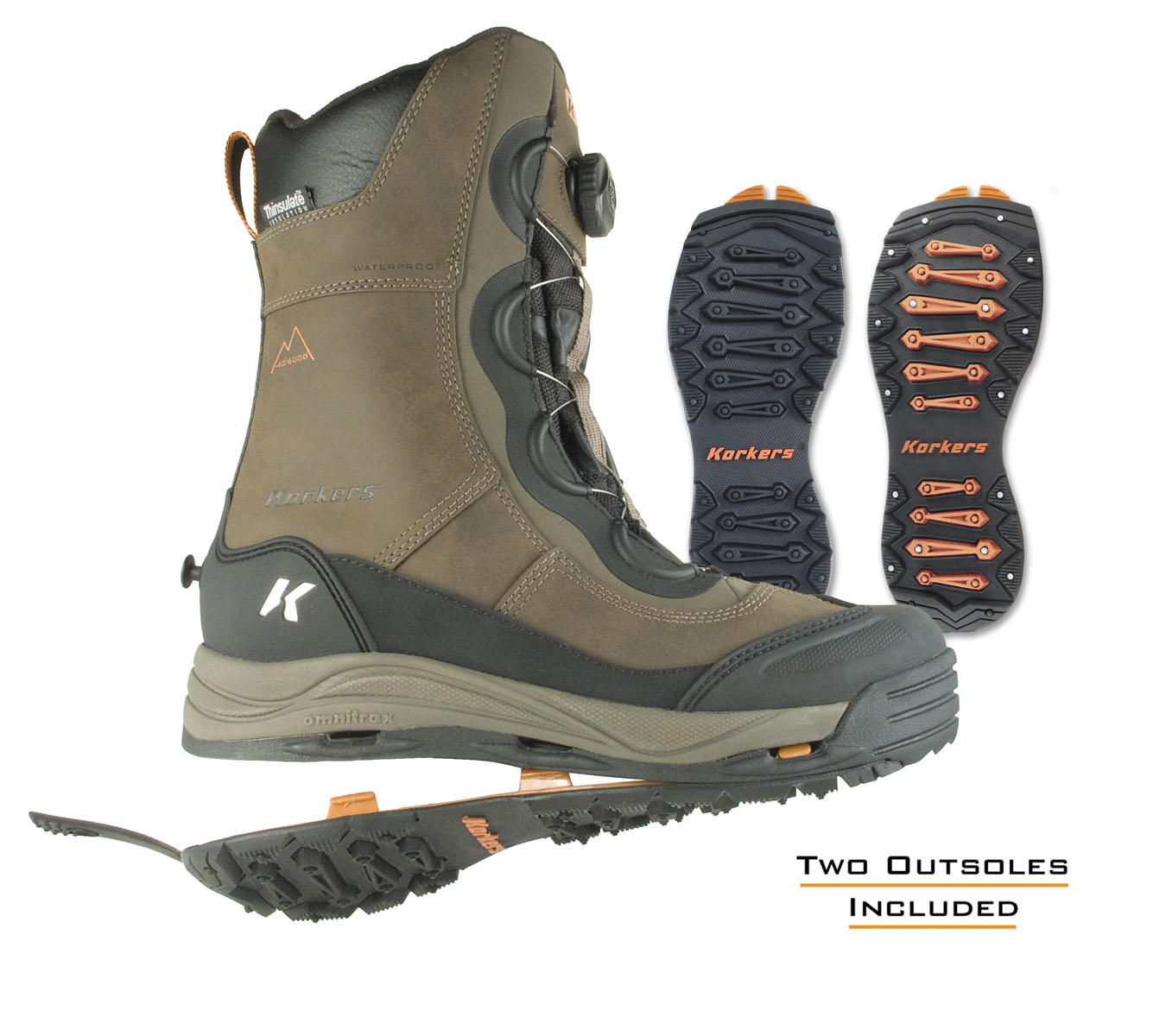 Korkers delivers high performance boots with adaptable for Ice fishing boots